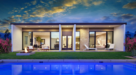 Z-3 Residence, Palm Springs, California, by Poon Design (photo by George Guttenberg)