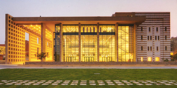 University Library, American University in Cairo, New Cairo, Egypt, by Anthony Poon (while w/ HHPA)