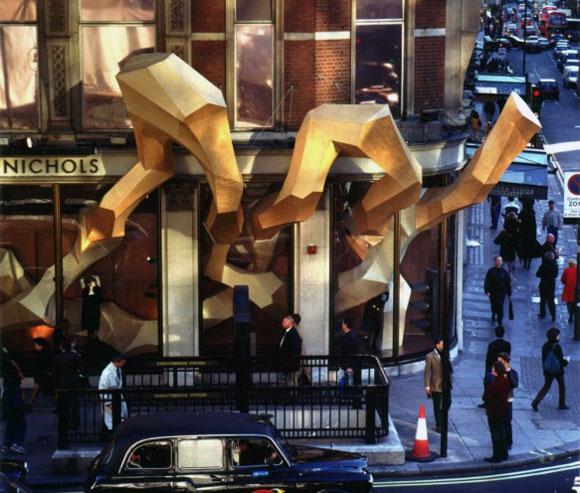 Harvey Nichols store, Knightsbridge, London, by Heatherwick Studio  (photo by Steve Speller)