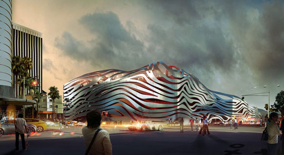 The Petersen Automotive Museum (rendering by KPF)