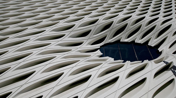 The Broad exterior detail (photo by Luis Sinco, Los Angeles Times)