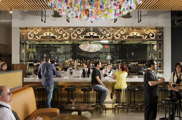 Bar at Chaya Downtown, Los Angeles, California, by Poon Design (photo by Gregg Segal)