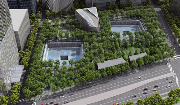 National September 11 Memorial, New York, New York, by Michael Arad with PWP Landscape Architecture (photo by PWP Landscape Architecture)