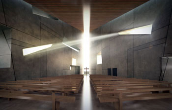 Chapel for the Air Force Village, San Antonio, Texas, by Poon Design (rendering by Amaya)