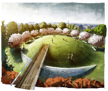 Contraband & Freedmen's Cemetery and Memorial, Alexandria, Virginia, by Poon Design (rendering by Zemplinski)