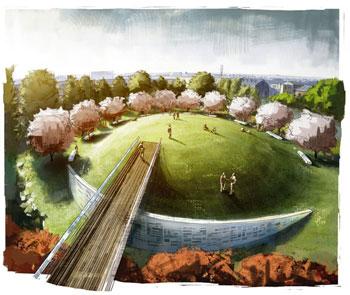 Contraband & Freedmen's Cemetery and Memorial, Alexandria, Virginia, by Poon Design (rendering by Zemplinski)