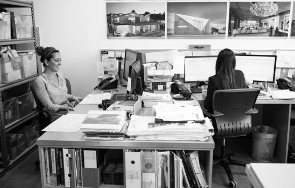 Work space at Poon Design (photo by Faran Najafi)