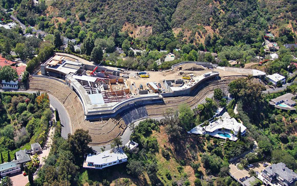 $500 million residence under construction, Bel Air, California (photo by McClean Design/Caters News Agency