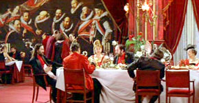 Dining scene from The Cook, the Thief, His Wife & Her Lover, 1989