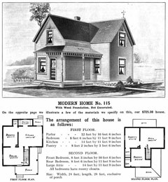 """Modern Home No. 115,"" Sears ""Kit"" home, circa 1930"