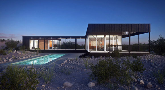 Prefab home in Desert Hot Springs, California. Originally listed for approximately $2 million. Four years later, sold for only one-third of asking price. (photo by CAD Services and Marmol Radziner)