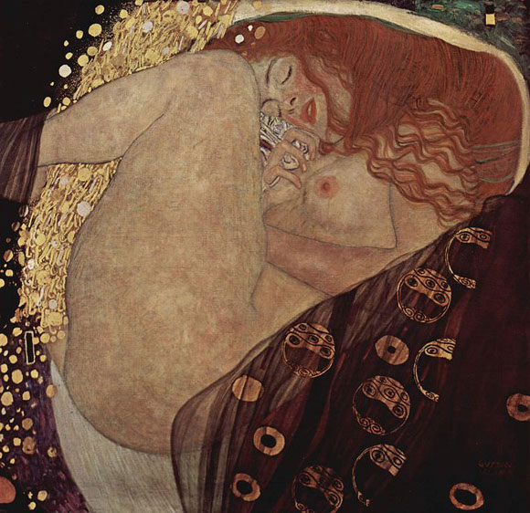 Danae, by Gustav Klimt, 1907