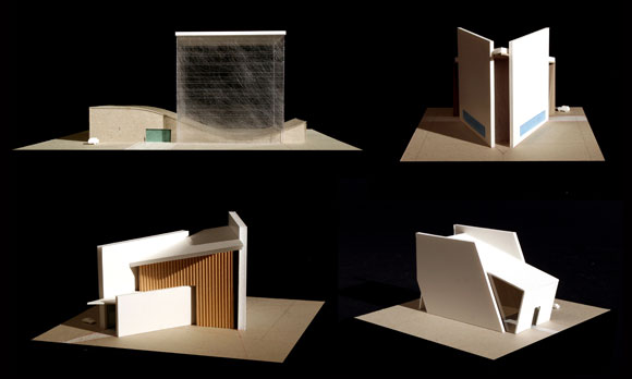 Study models for a chapel for an Air Force retirement community, San Antonio, Texas, by Poon Design
