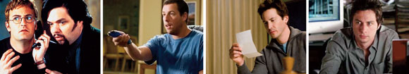 Matthew Perry and Oliver Platt in Three to Tango (1999), Adam Sandler in Click (2006), Keanu Reeves in The Lake House (2006), Zach Braff in The Last Kiss (2006)