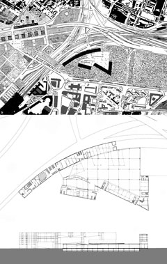 Drawings of convention center project by Anthony Poon