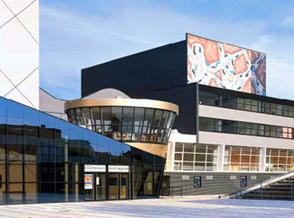 Netherlands Dance Theater, The Hague, by Rem Koolhaas, OMA (photo from pritzkerprize.com)