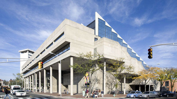Gund Hall, Graduate School of Design, Harvard University, Cambridge, Massachusetts, by John Andrews (photo by Harvard GSD)