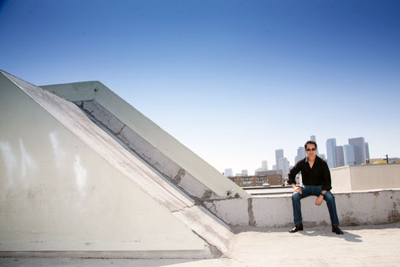 Me, rooftop in the Arts District, Los Angeles (photo by Mikel Healey)