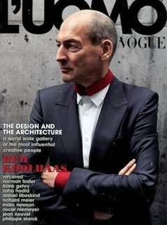 Rem Koolhaas looking fashionable on the cover of Vogue