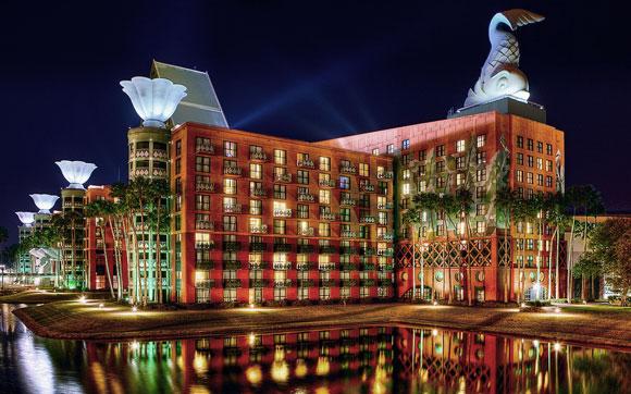 Walt Disney World Swan and Dolphin Resort, Orlando, Florida, by Michael Graves Architecture & Design (photo by James Cornetet, Stringio)