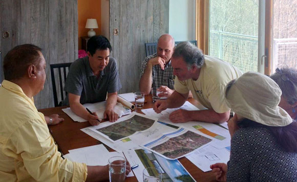 My client meeting with a Buddhist Foundation, Virginia, for a new dining hall (photo by Bryan Bethem)