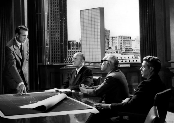 Architect Howard Roark's client presentation from The Fountainhead, 1949