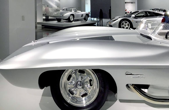 The Silver Room, Petersen Automotive Museum, Los Angeles, California (photo by Anthony Poon)
