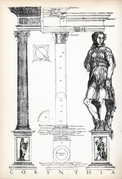 Illustration from The First & Chief Groundes of Architecture, by Marco Vitruvius, 1563