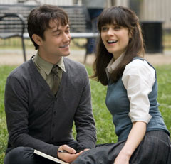 """Adorkable"" Joseph Gordon-Levitt and Zooey Daschanel, in 500 Days of Summer (2009)"