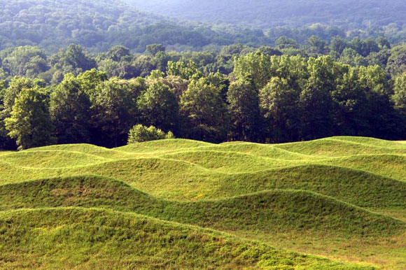 Storm King Wavefield, by Maya Lin, Storm King Art Center, New Windsor, New York (2009, photo from stormking.org)