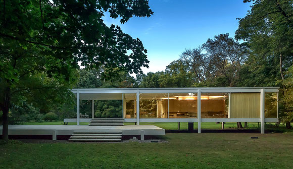Farnsworth House, Plano, Illinois, by Mies van der Rohe (photo from wallpaper.com)