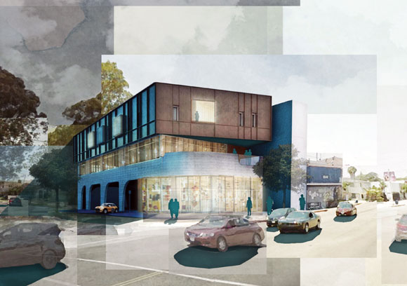 Los Angeles Mixed-Use Building, by Poon Design (rendering by Niloo Hosseini)