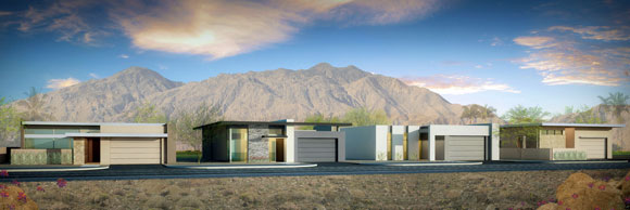 Concepts for housing development, California, by Poon Design (rendering by Amaya)