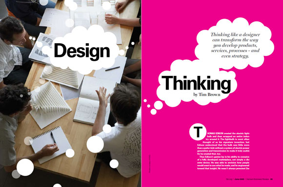 Harvard Business Review article, Design Thinking by Tim Brown
