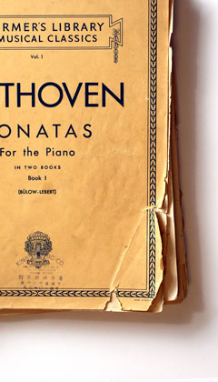 My mother's Hong Kong edition of the Beethoven Sonatas, Volume One