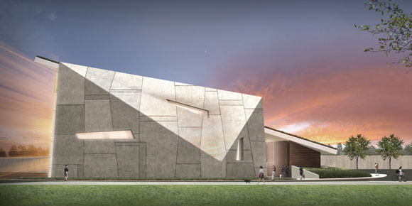 Air Force Village Chapel in San Antonio, Texas, by Poon Design, rendering by Mike Amaya