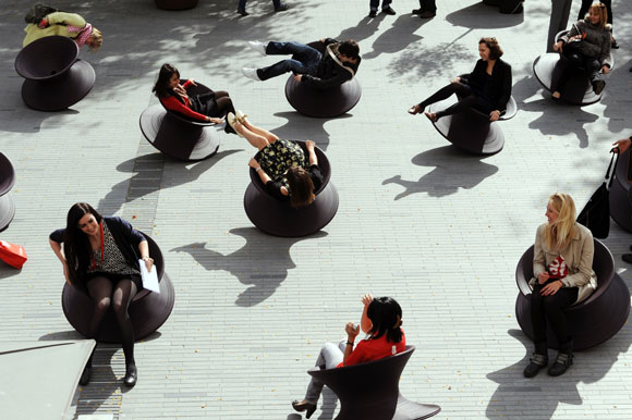 Spun Chairs by Heatherwick Studio, photo by Susan Smart