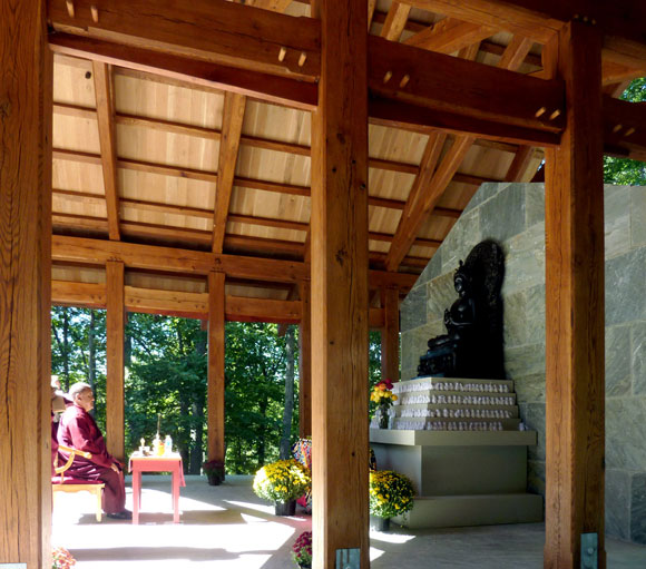 Buddhist Temple by Poon Design, blessing ceremony with Shamar Rinpoche (photo by Christine Fang)