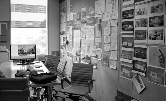 Conference room at Poon Design (photo by Faran Najafi)