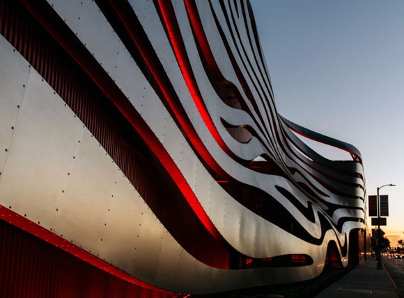Detail of steel ribbons, photo by Blake Z. Rong