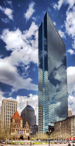 John Hancock Tower, Boston, Massachusetts, by I.M. Pei & Partners (photo from architectmagazine.com)