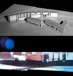 Presentation model of convention center project by Anthony Poon