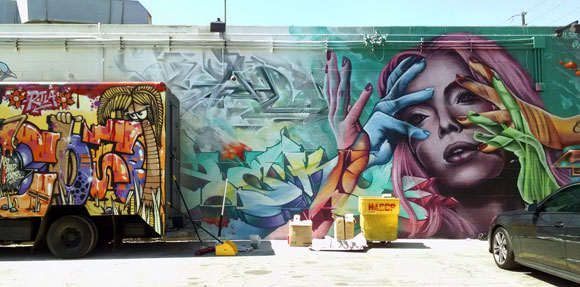 Giant murals at The Container Yard (photo by Anthony Poon)