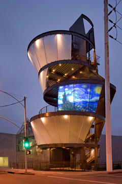 Samitaur Tower, Culver City, California, by Eric Owen Moss Architects (photo by Tom Bonner)