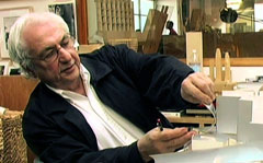 Frank Gehry at work (photo from Sketches of Frank Gehry)