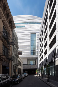View of SFMOMA from the northeast alley (photo from snohetta.com)