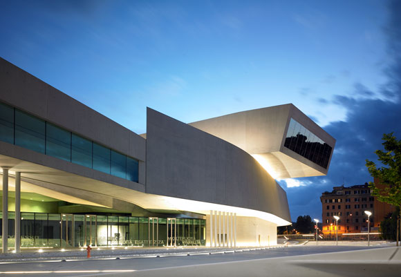 National Centre for The Exhibition of Contemporary Art and Architecture, Rome, Italy, by Zaha Hadid (photo from fundazionemaxxi.it)