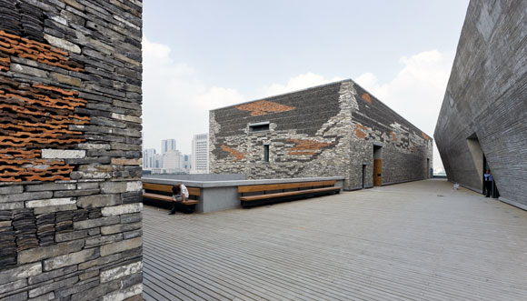 Ningbo Museum, China, by Wang Shu (photo by Iwan Baan)