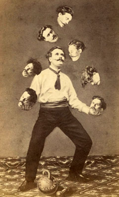 Who do the clients want their architect to be? Man Juggling His Own Head, unknown artist, 1880