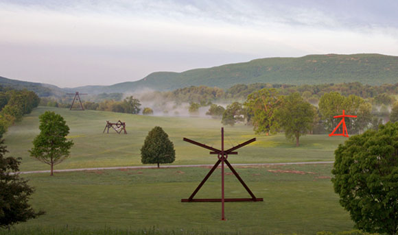 South Field sculptures, by Mark Di Suvero, Storm King Art Center, New Windsor, New York (1969 to 1998, photo from whattododigital.com)